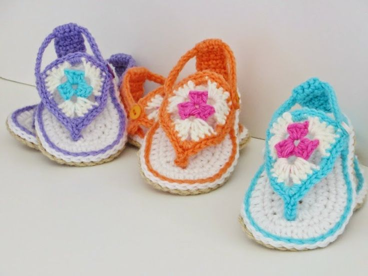 Happy Feet Sandals, Pdf Crochet Booties Pattern, 3 months to One year