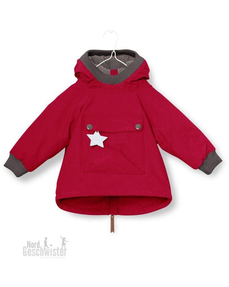 MINI A TURE Winterjacke Baby Wen in Rot