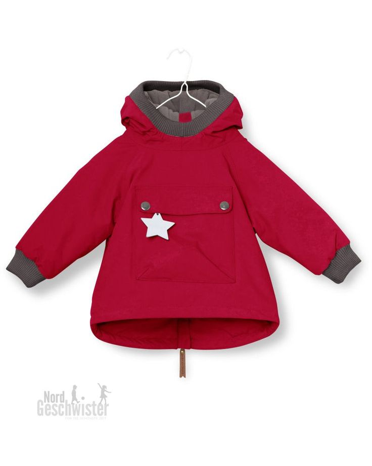 MINI A TURE Winterjacke Baby Wen in Rot