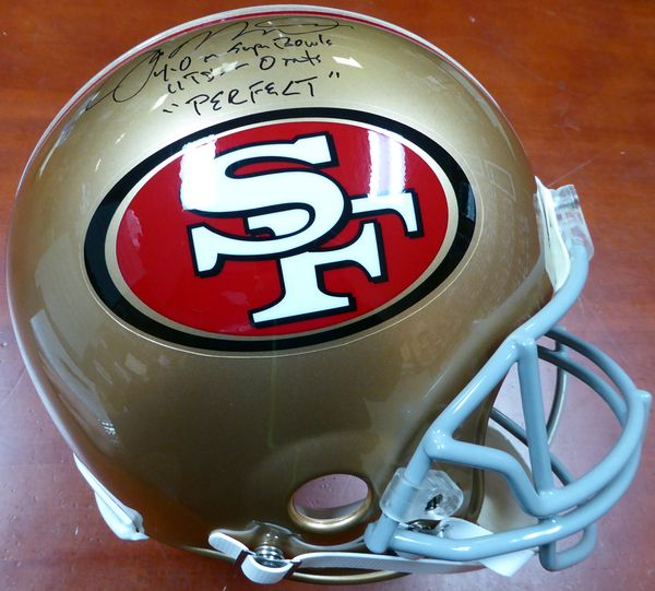 Joe Montana Autographed San Francisco 49ers Full Size Authentic Proline  Helmet