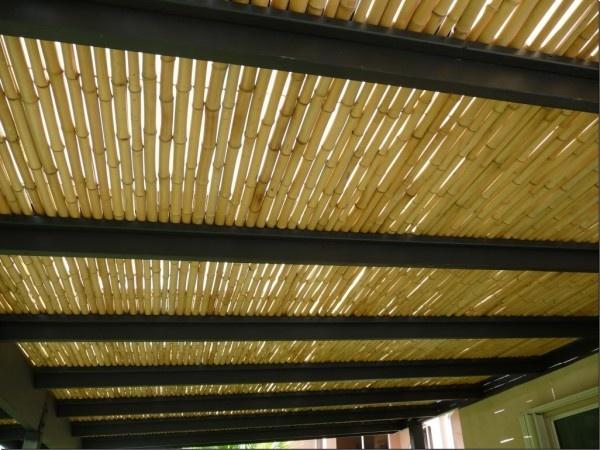 Not Waterproof But Good Sunshade Backyard Bamboo Roof