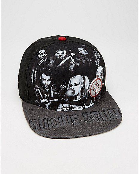 Group Suicide Squad Snapback Hat - Spencer's