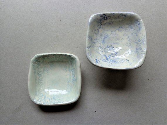 Mini Blue Lace Trinket Dish