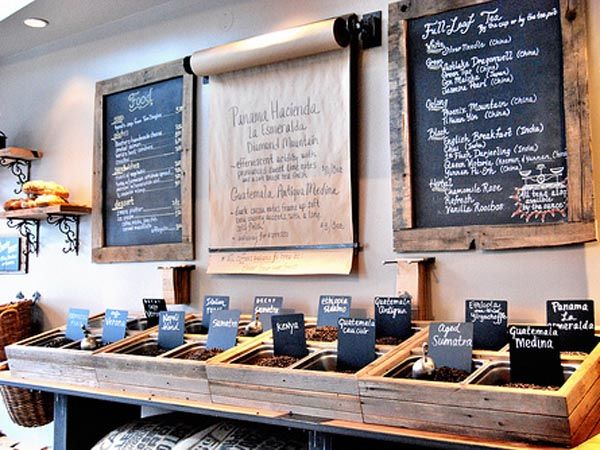 15th Ave Coffee & Tea's changeable menu board. Love.