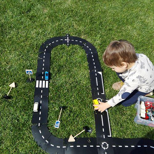Kerti játék: rugalmas, vízálló autópálya