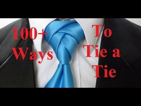 From Lifehacker - 30 Different Ways to Tie a Tie, in Videos and with Knot Ratings