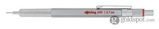 Rotring 600 Series Silver .7mm Pencil