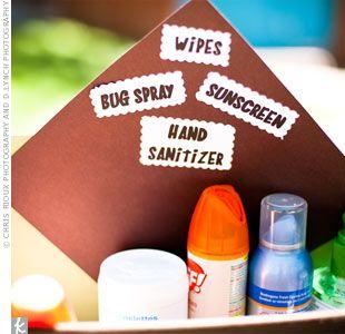 Wipes, Bug Spray, Sunscreen, Hand Sanitizer