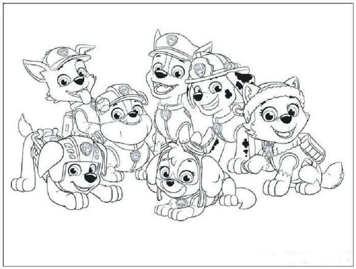 Paw Patrol Characters Coloring Pages Paw Patrol Coloring Paw Patrol Coloring Pages Paw Patrol Characters