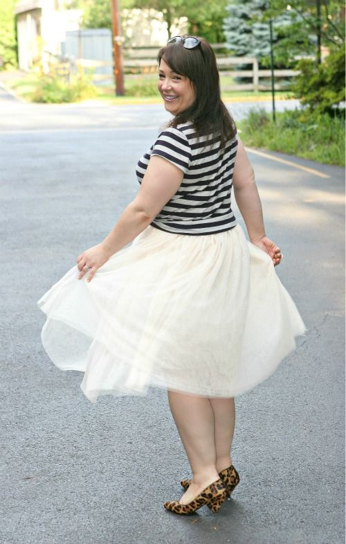 Monday - Ballerina Skirt with Stripes - Wardrobe Oxygen
