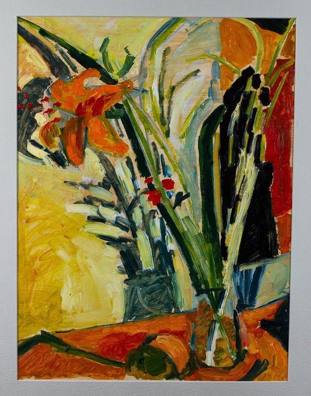 Marina Goldaracena Pinturas: Un florero para Matisse II