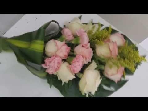 تنسيق تشكيله من الورود الطبيعيه 2 Format A Bouquet Of Roses Youtube Buket Kompoziciya