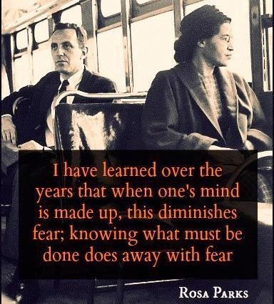 Rosa Parks What a brave and amazing woman. This would have been hard for a black man to accomplish. A tiny black woman? Amazing. Bravo.
