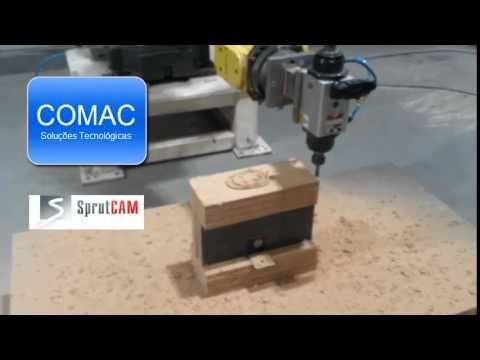 Woodworking example with Fanuc powered by SprutCAM  Robot