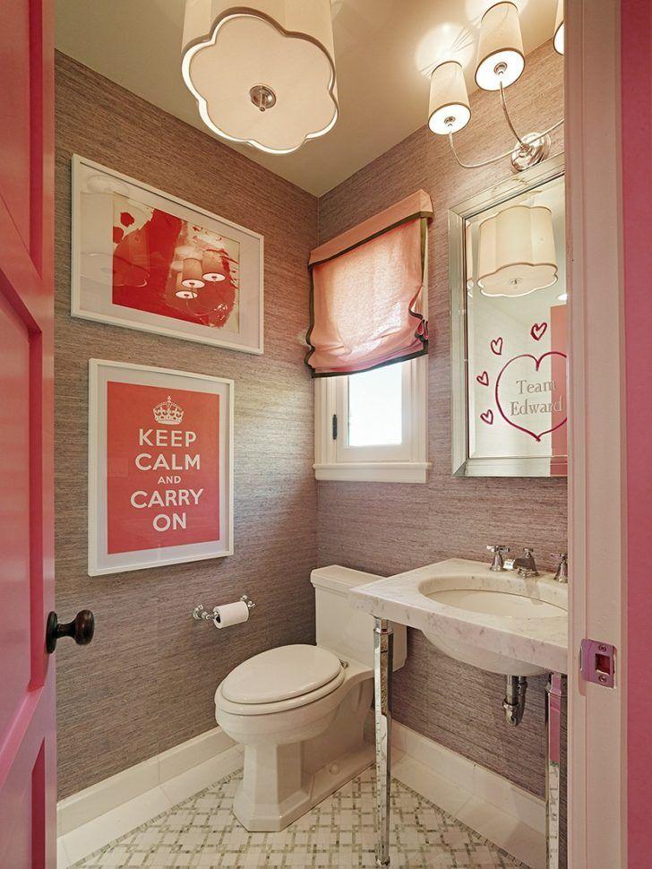 Bathroom:DIY Bathroom Ideas With Nice Creative Vanity Sets Chic Womens Bathroom Diy Ideas With Printed Wall Arts Also Wood Patterned Wallpaper