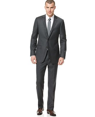 DKNY Suit Separates, Charcoal Trim Fit - Mens Suits. My new suit! #Fresh #Fashion #WorkHardPlayHarder