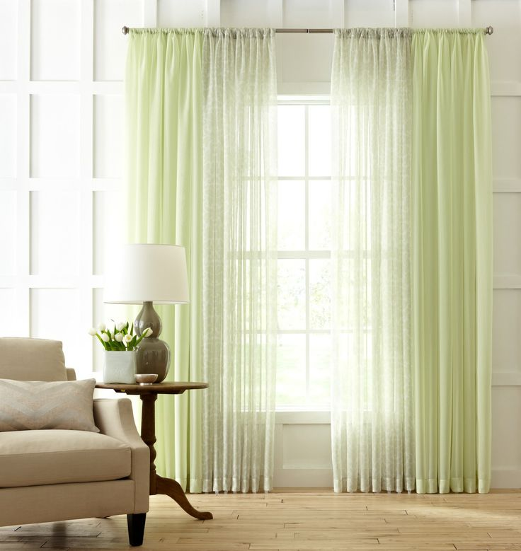 Sheer #curtains lighten up a room for #summer. #MarthaWindow #JCPenney #redecorateMartha Windows, Sheer Curtains, Decor Ideas, Room Martha, Jcpenney Redecorating, Curtains Lighten, Summer, Furnituree Room, Windows Treatments