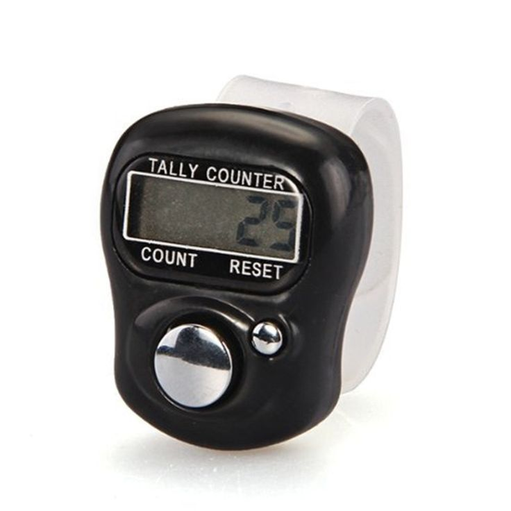 1PC Stitch Marker And Row Finger Counter LCD Electronic Digital Tally Counter FO