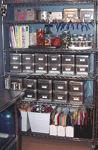 Ikea storage bins, turn tables make for a great organized craft space