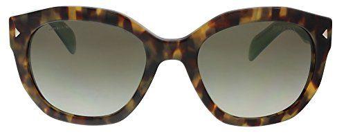 5470fea122a1 Prada Women s PR Sunglasses Spotted Brown Green Green Gradient Grey 53mm