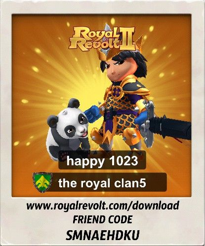 Build your own kingdom and lead your army to victory! https://youtu.be/QWxj-qPPncY  Download Royal Revolt 2 on your mobile device: www.royalrevolt.com/download    Start the game and get an EPIC reward by entering this friend code: SMNAEHDKU