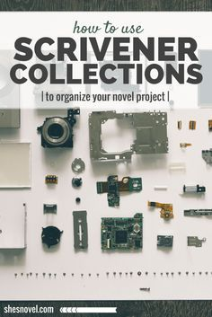 New to Scrivener? Discover how to use Scrivener Collections to Organize Your Novel Project over on ShesNovel.com #scrivener #writing #writingtips