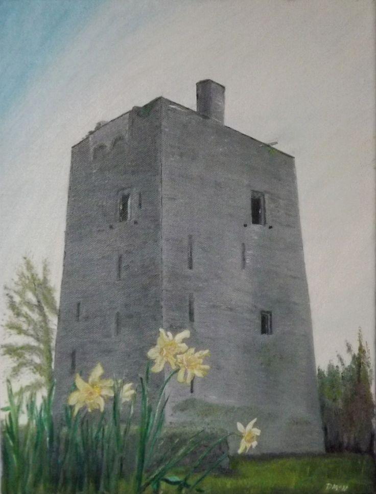 Mooghaun Castle County Clare. Ireland Oil on Canvas 30 X 40 cm