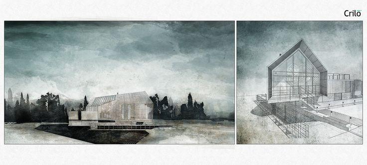 Wettbewerb Für Theatersanierung: Architectural Watercolors By Atelier Crilo