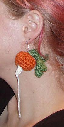 Thread Bear's Picnic - www.aoibheni.com: Crochet Pattern Download - Luna Lovegood's Radish Earrings