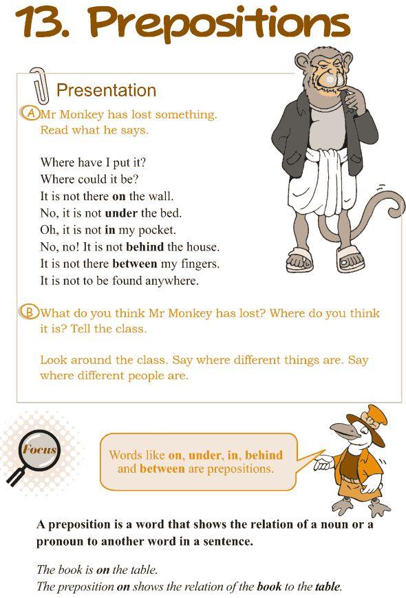 Grade 3 Grammar Lesson 13 Prepositions