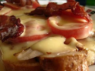 Kentucky Hot Brown....these are SO GOOD.....we call it heart attack on a plate here in Kentucky!