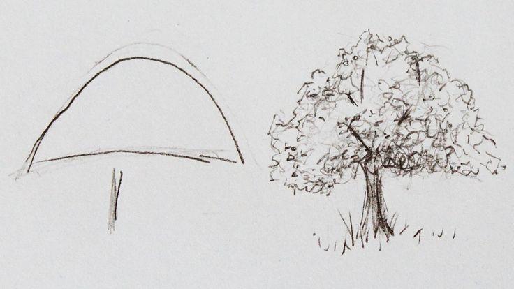 Como DESENHAR uma árvore ( passo a passo )