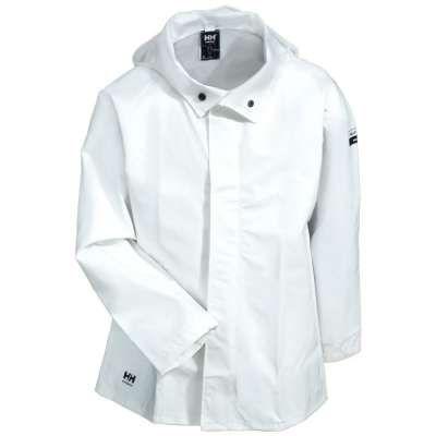 Helly Hansen Jackets: Men's 70215 900 White Waterproof Mandal Processing Jacket