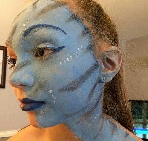 best 25 avatar makeup ideas on pinterest avatar halloween fasching schminken tutorial and. Black Bedroom Furniture Sets. Home Design Ideas
