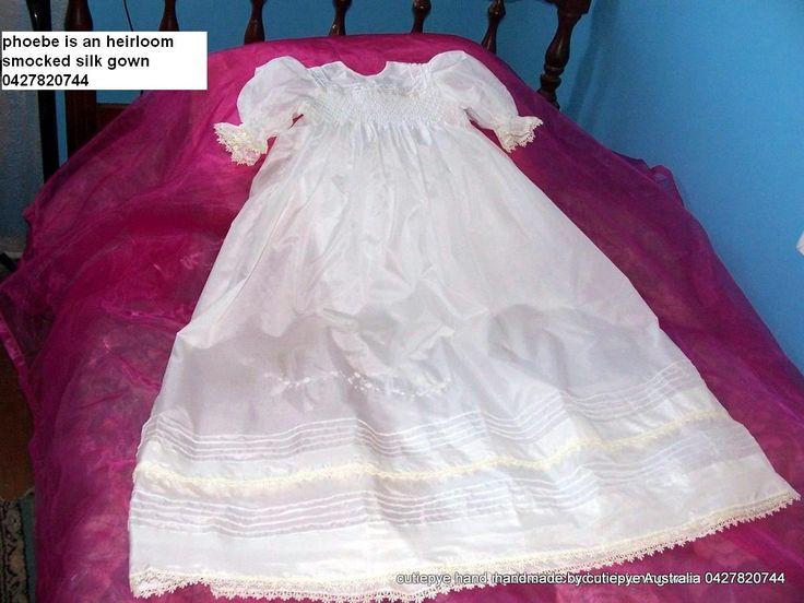 phoebe is smocked raw silk heirloom n0427820744