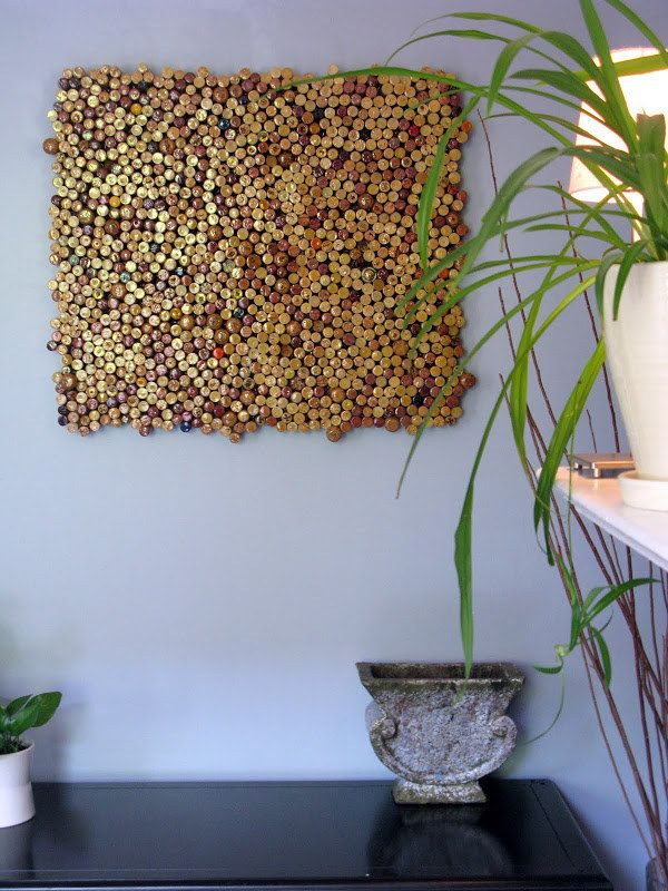 Save your wine corks and glue them together to create a DIY cork board. | 29 Impossibly Creative Ways To Completely Transform Your Walls