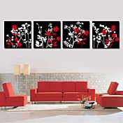Stretched Canvas Art Botanical Red and White ... – AUD $ 72.77