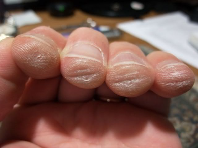 fingers after you practice