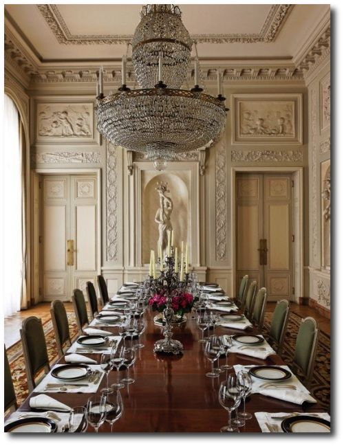 Hotel de la Tour d'Auvergne (Republic of Chile)- With an entire interior designed by Pierre Adrien Pâris, the dining room has been listed as an historic building.