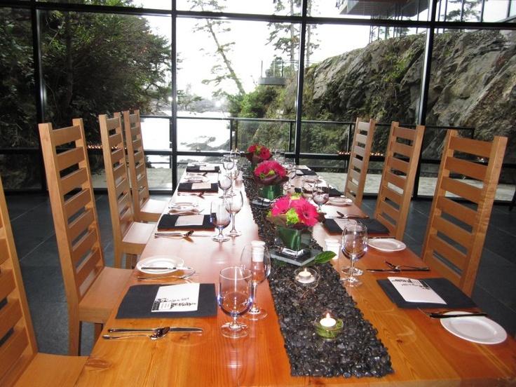Wine Cellar Intimate Setting at BlackRock Oceanfront Resort in Ucluelet, BC