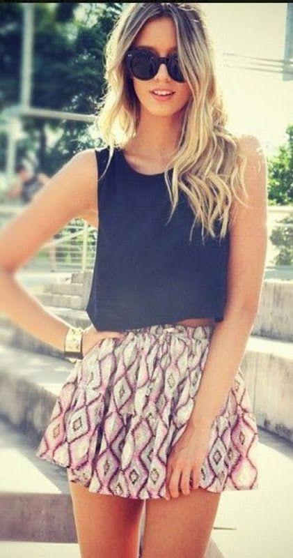 Tank Top + Skirt | Girls Summer Style