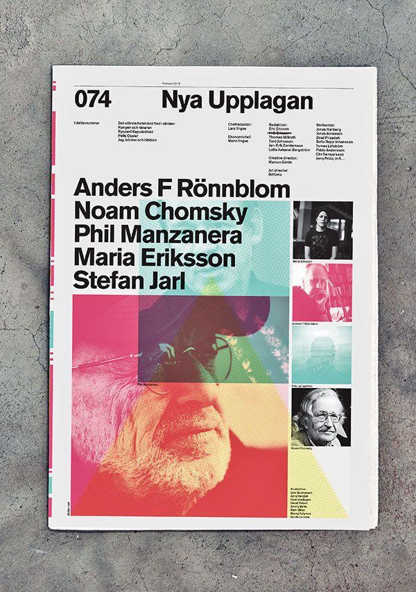 swedish free cultural news paper, nya upplagan (2010) by marcus gärde.