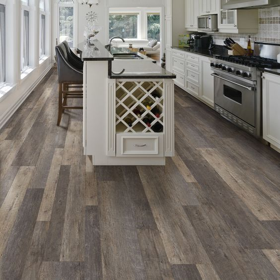 Vinyl Flooring Works Great In Kitchens And Comes In A Wide Variety Of Styles Vinyl Flooring Kitchen Kitchen Flooring Kitchen Vinyl