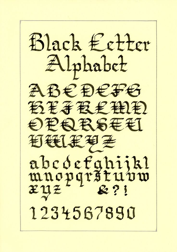 Best calligraphy numbers images on pinterest
