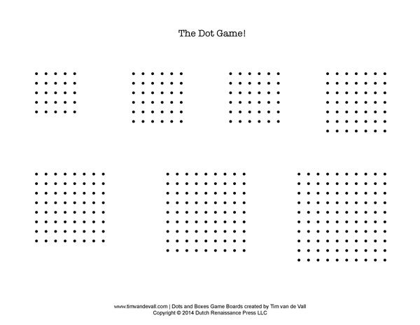 Priceless image in dots and boxes game printable
