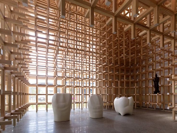 GC Prostho Museum Research Center / Kengo Kuma & Associates via archdaily.net. Photo by Daici Ano  #Architecture #GC_Prostho_Research_Center #Kento_Kuma_&_Associates #Daici_Ano #archdaily