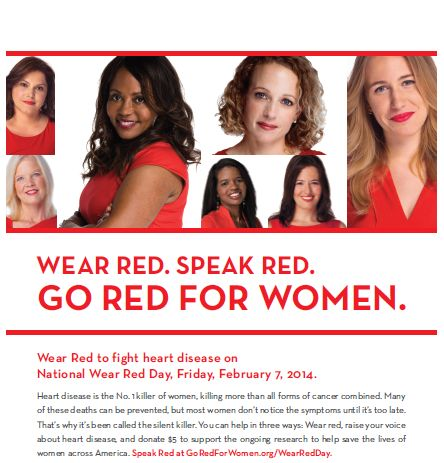 National GO RED FOR WOMEN Day is February 7th! How are you going to show your support? #gored #hearthealth #agapeseniorsc