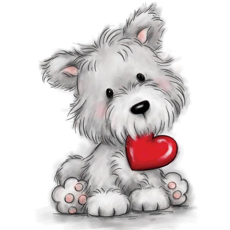 картинки собачек с сердечком