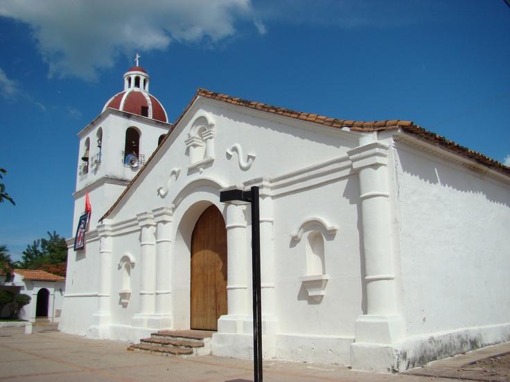 Colonial church in El Molino, La Guajira - Colombia