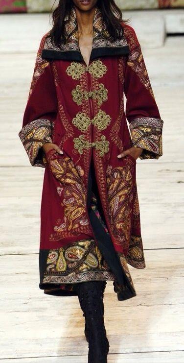 Ornate and sumptuous coat fit for a Gypsy queen. Antonio Maras #preraphaelite #bohemian